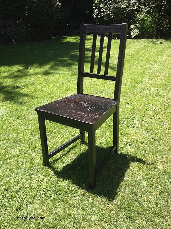 Before: Plain wood chair