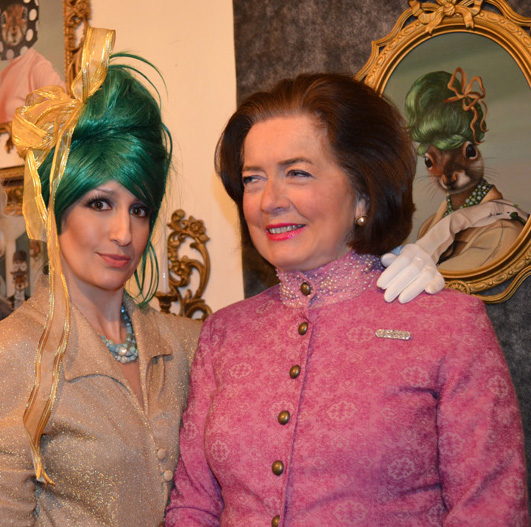 Carollyne with Susan Erling-Tyrell, Curator of the Costume Museum, Gorvernment House.