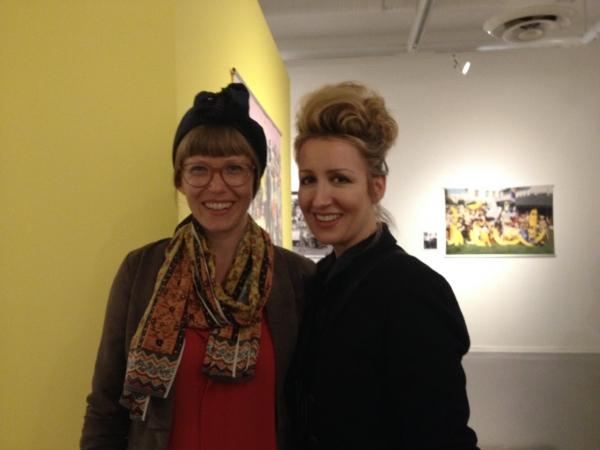 Tierre Taylor and Carollyne Yardley, Opening Night of Anna Banana, AGGV 2015