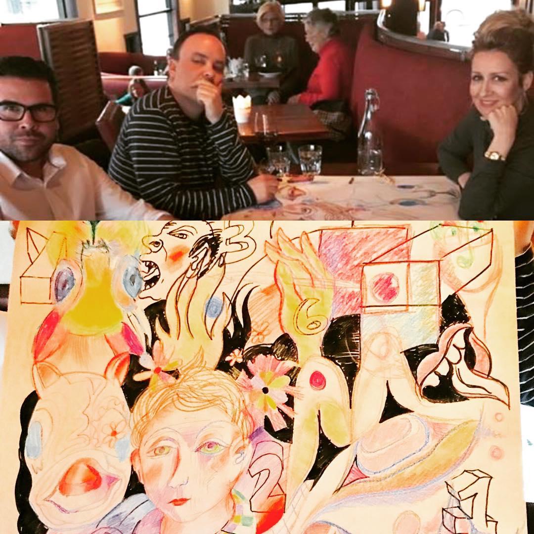 Noah Becker, Rande Cook and Carollyne Yardley collaboration @noahbeckerstudio @ola_randelini #noahbecker #randecook #carollyneyardley #carollyne #arttoronto #vancouverisawesome #yvr #yyj