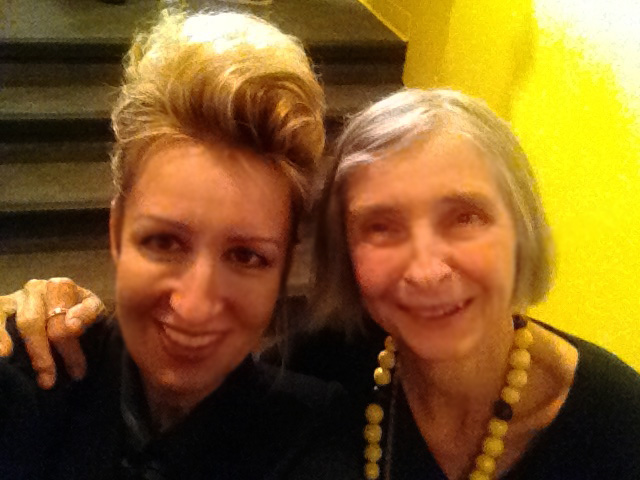 Carollyne Yardley with Anna Banana at Art Gallery of Greater Victoria, opening.