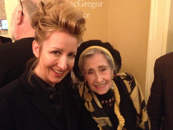 Carollyne Yardley with Pat Martin Bates, Sept 2015 Opening of Anna Banana, AGGV.