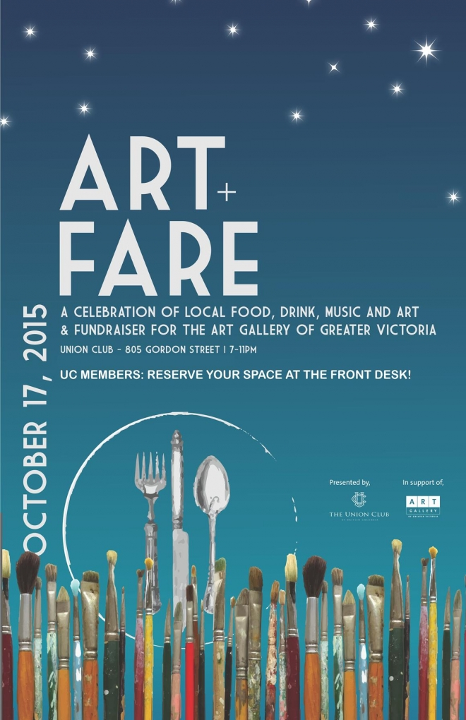 ART + FARE Fundraiser for the AGGV (Union Club of Victoria)