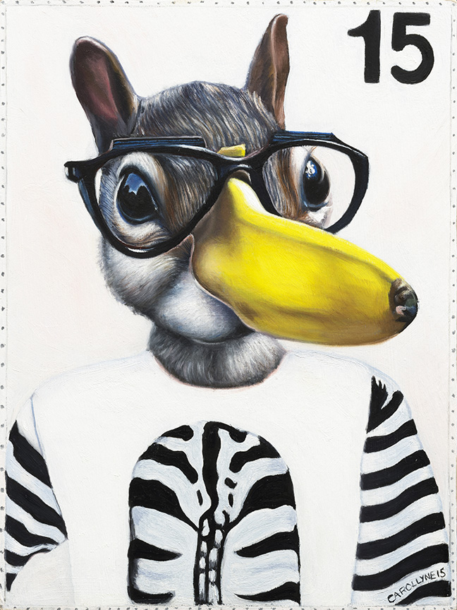 Anna Banana Squirrel, 9 x 12 inches, oil on panel, 2015