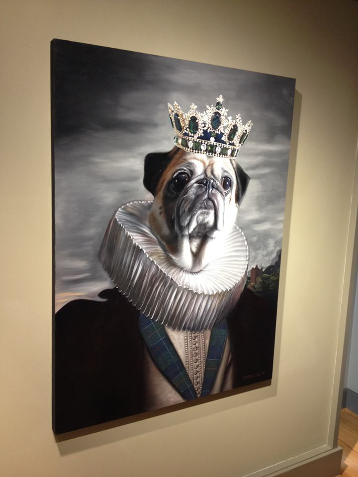 Lord Rocco at Winchester Galleries before delivery.