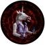 "Hunt of the Unicorn Cont'd 48"" diameter, oil on panel, 2016 #unicorn #constellation #monoceros #rainbow #mask #archiemcphee #seattle #carollyne #carollyneyardley"