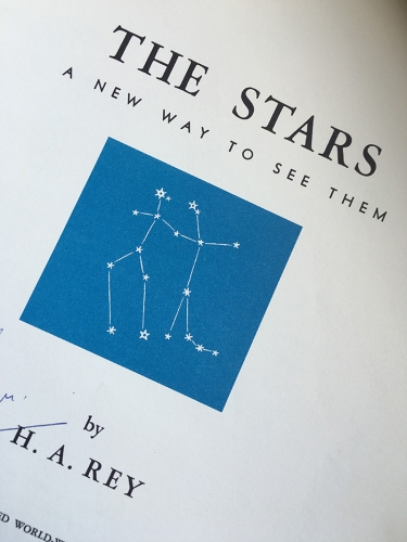 The Stars, by H.A. Rey, Houghton Mifflin Company, Boston, 6th printing, 1962.
