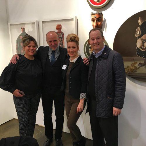 Artist Ingrid Mary Percy with Jon Tupper artgalleryvic visiting fazakasgalleryhellip