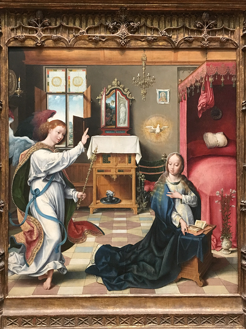 The Annunciation Joos van Cleve ca. 1525 Oil on wood