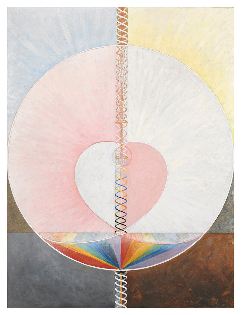 "Hilma af Klint, ""Group IX/UW, No 25, The Dove, No. 1"" (1915), oil on canvas, 151 x 114.5 cm (courtesy Stiftelsen Hilma af Klintss Verk; photo by Moderna Museet/Stockholm."