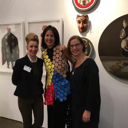With Karen and Marnie new collectors of squirrealism! arttoronto fazakasgalleryhellip