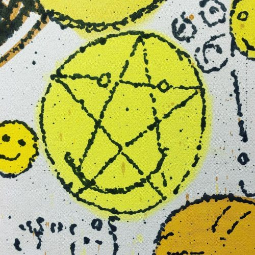 Detail of NATE LOWMAN VARIOUS YELLOW HAPPY ENDINGS 2011