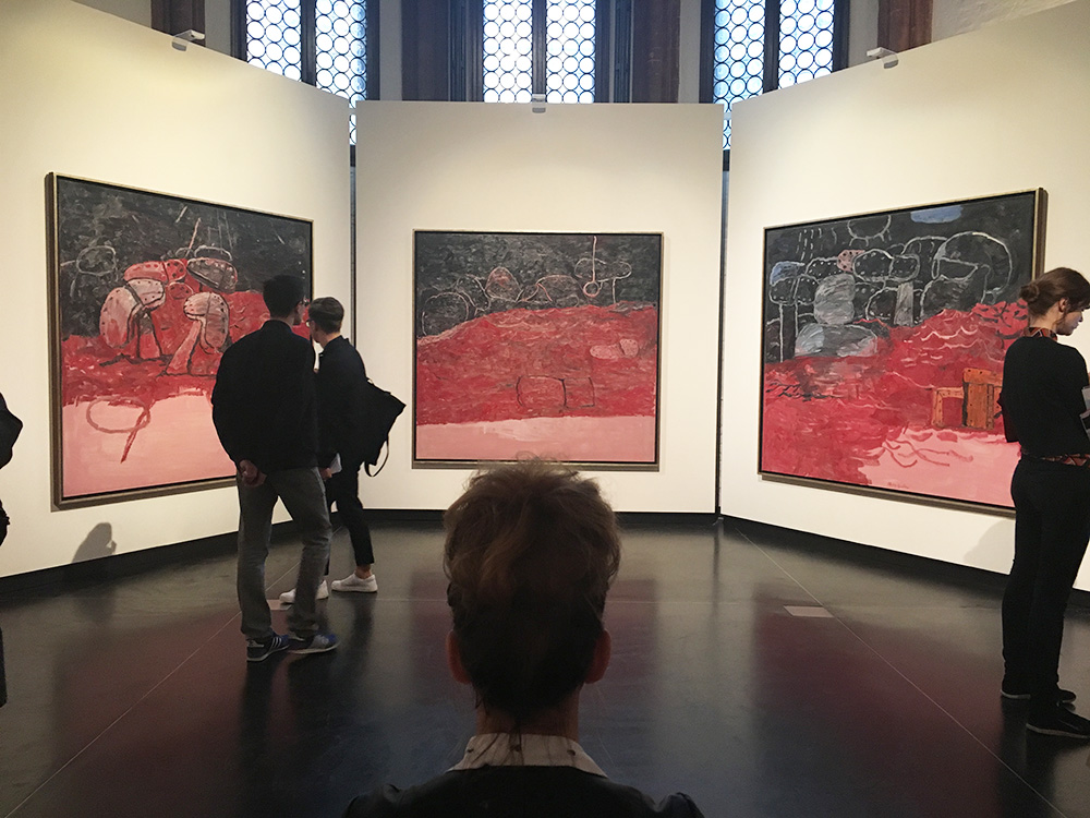 Bun Anus with Philip Guston, at the Gallerie dell'Accademia