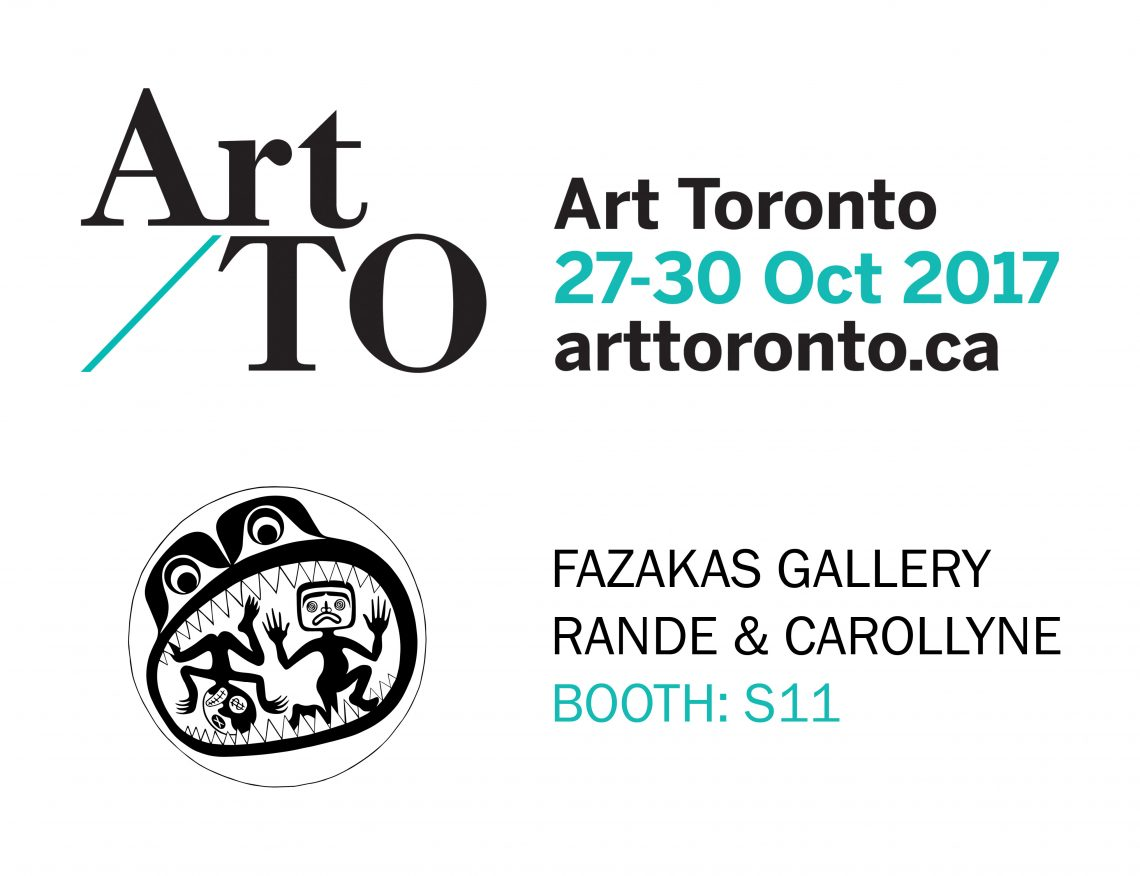 Art Toronto 2017 SOLO Booth #S11 | Fazakas Gallery | Carollyne Yardley and Rande Cook | Oct 27-30, 2017