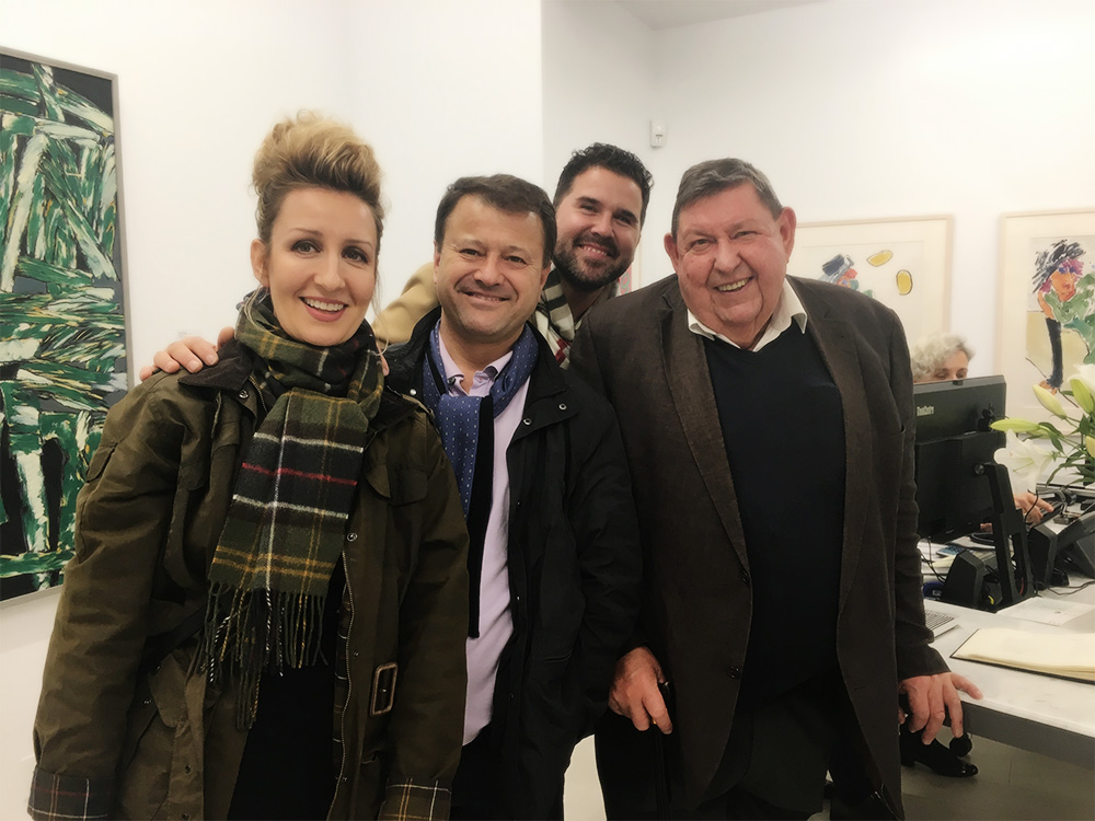Carollyne, Rahmi, Rande, Michael at Winchester Galleries, Fort Street. October 2017