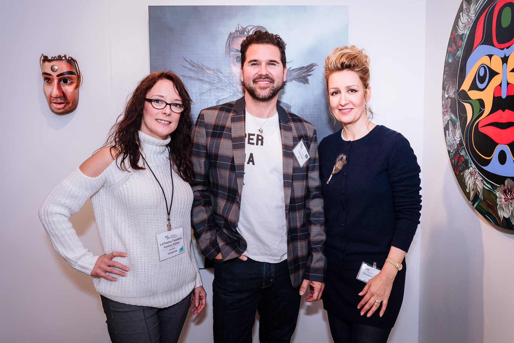 LaTiesha Fazakas, Rande Cook, Carollyne Yardley at Art Toronto, S11 Fazakas Gallery.