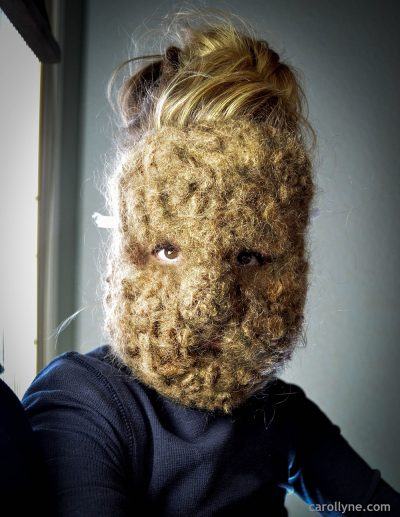 My Hair as a Squirrel Mask, human hair, 2012-2018
