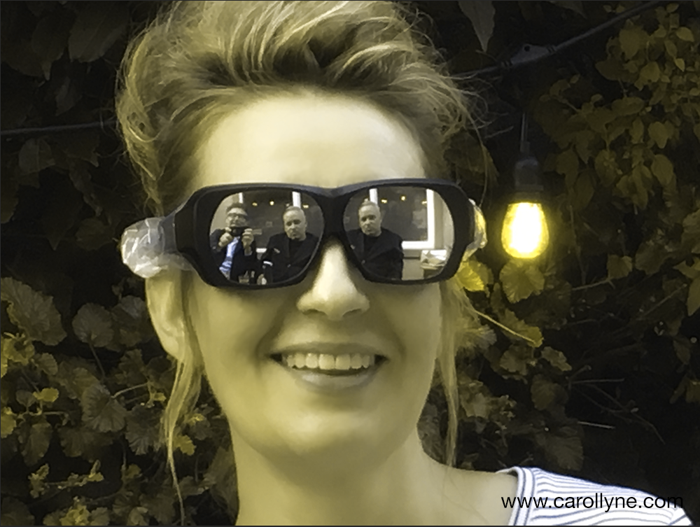 Carollyne Yardley testing dichromatic spectacles, image saved as RGB/8/Protanopia type Photoshop CC. 2018.