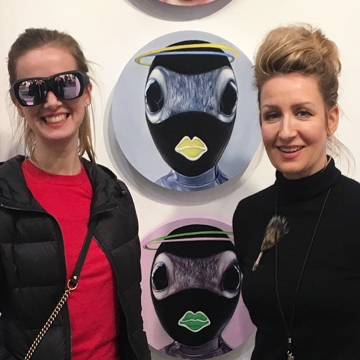 How a #squirrel sees - wearing dichromatic spectacles to experience the colour vision of a squirrel Fazakas Gallery Booth C8 @art_toronto @fazakasgallery #fazakasgallery #arttoronto #arttoronto2018 #arttoronto18 #carollyne #carollyneyardley #squirrealism @natcatalia