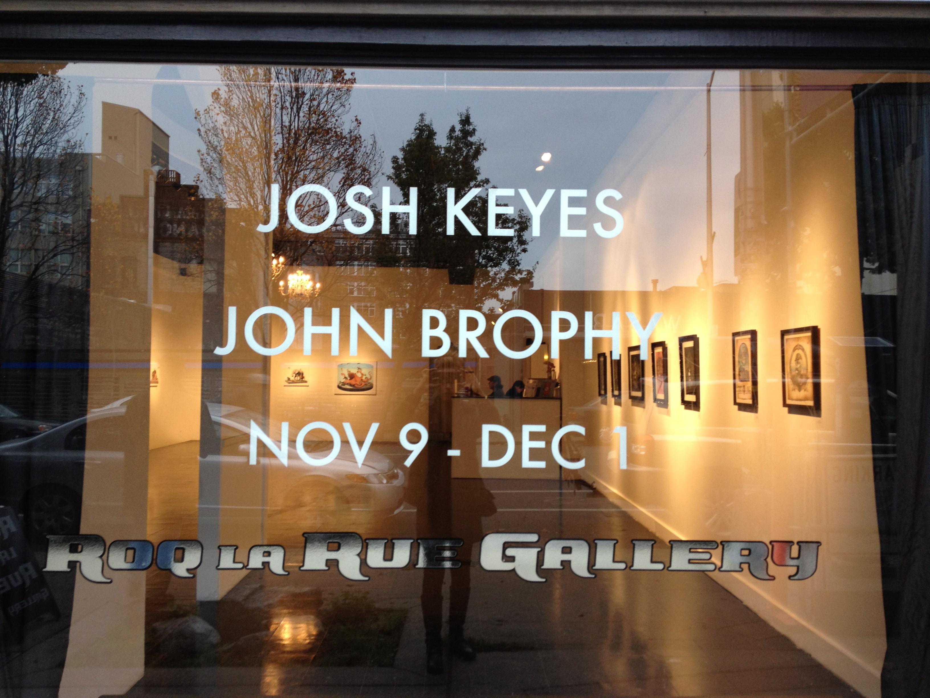 Josh Keyes and John Brophy at Roq La Rue Gallery, November 2012