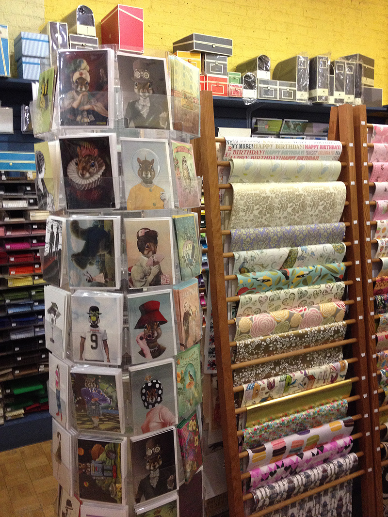 Greeting Cards at The Papery, Fort St, Victoria BC