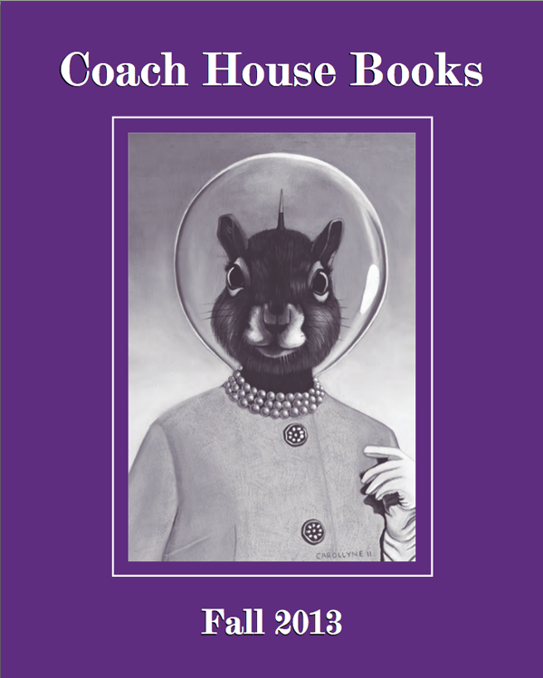 Coach House Books, Fall Catalogue 2013