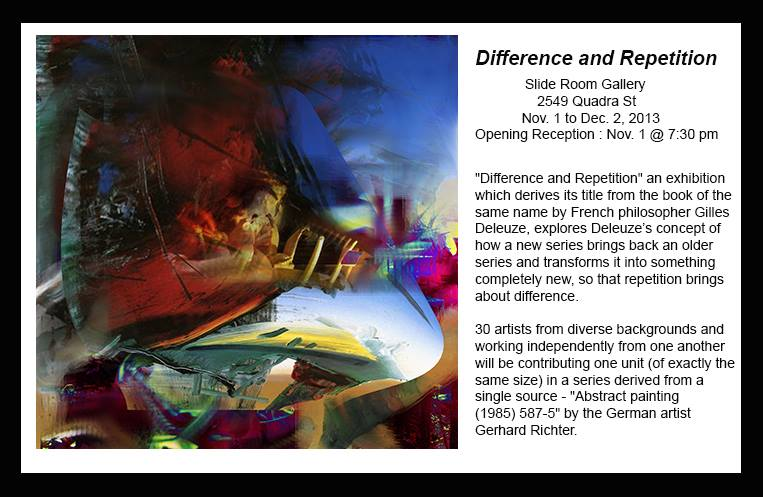 Difference and Repetition, Slide Room Gallery, Nov 01-Dec 02, 2013