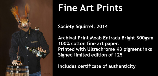 Society Squirrel Prints Now Available.
