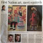 Robert Amos, First Nation art, meet squirrels, Times Colonist, D7, Sunday, June 19, 2014.