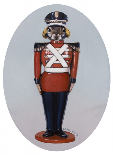 Tin Soldier Squirre 9 x 13 Oil on board 2013 SOLD. Commission