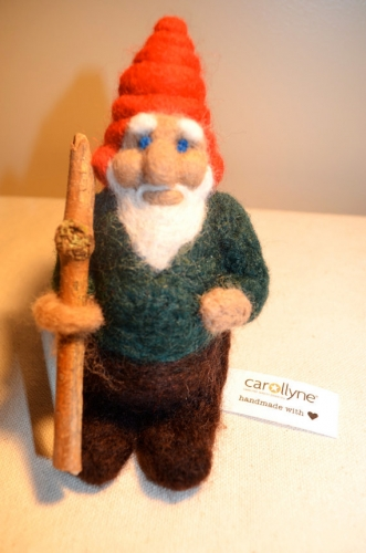 Gnome Doll, Needle felted wool from the Squirrealism series