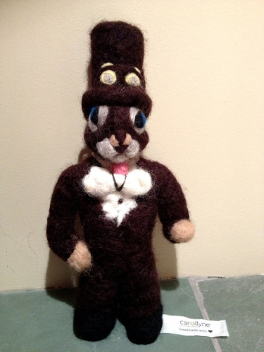 Steampunk Squirrel doll, Needle felted wool from the Squirrealism series