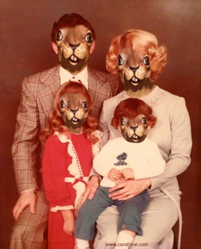 Anonymous Family Portrait, inkjet of Moab fine art paper, 2014